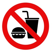 No food and no drinks allowed
